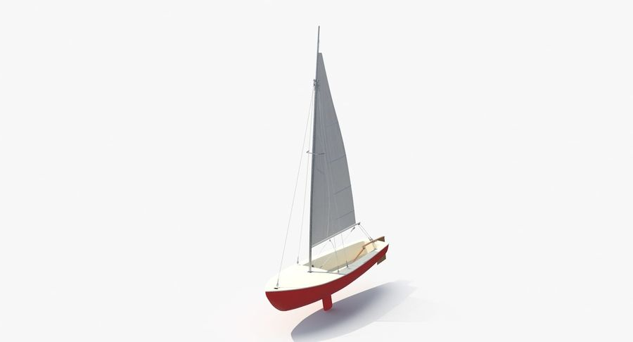 Sailboat royalty-free 3d model - Preview no. 4