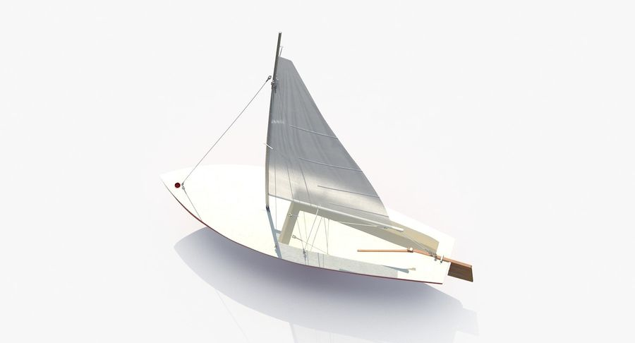 Sailboat royalty-free 3d model - Preview no. 9