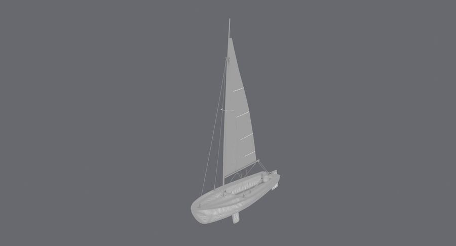 Sailboat royalty-free 3d model - Preview no. 21
