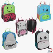 Kid Backpacks 3D Models Collection 3d model