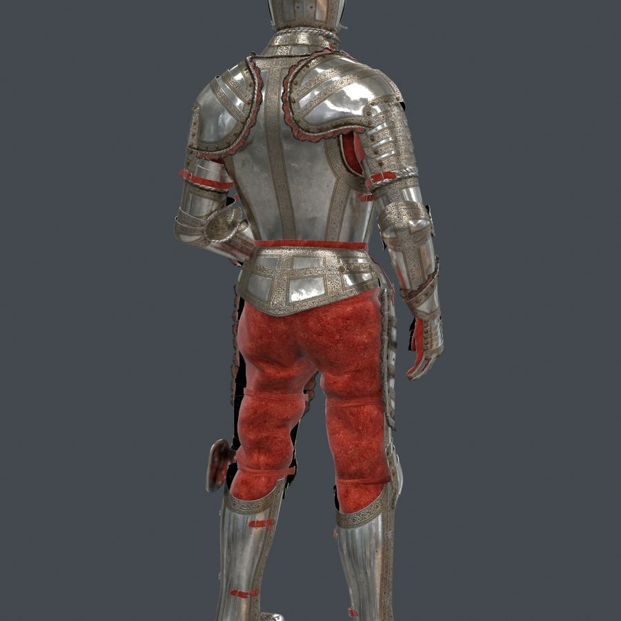 Ceremonial knight armor royalty-free 3d model - Preview no. 6
