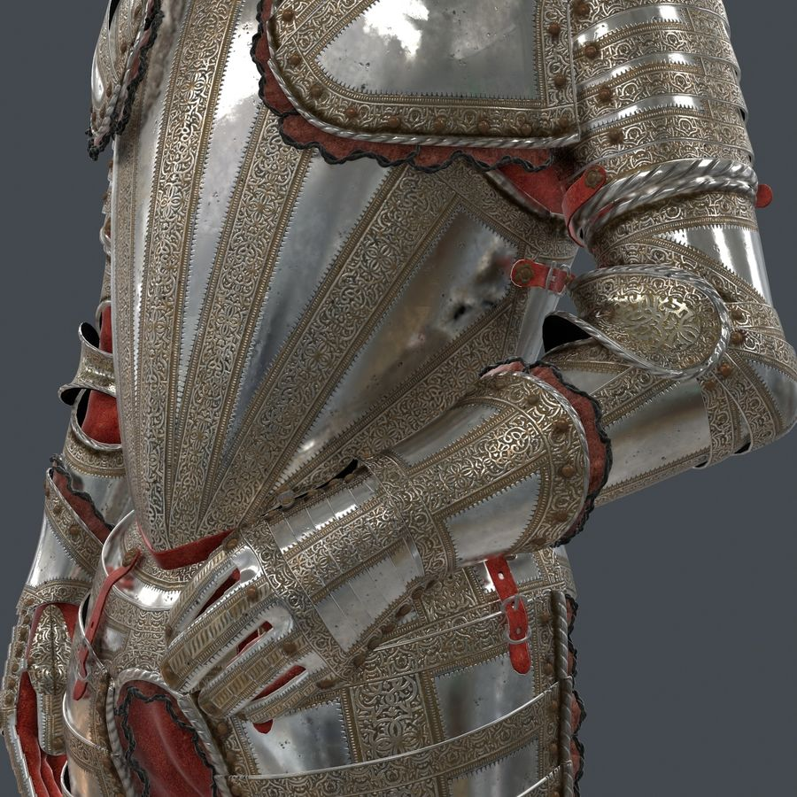 Ceremonial knight armor royalty-free 3d model - Preview no. 10