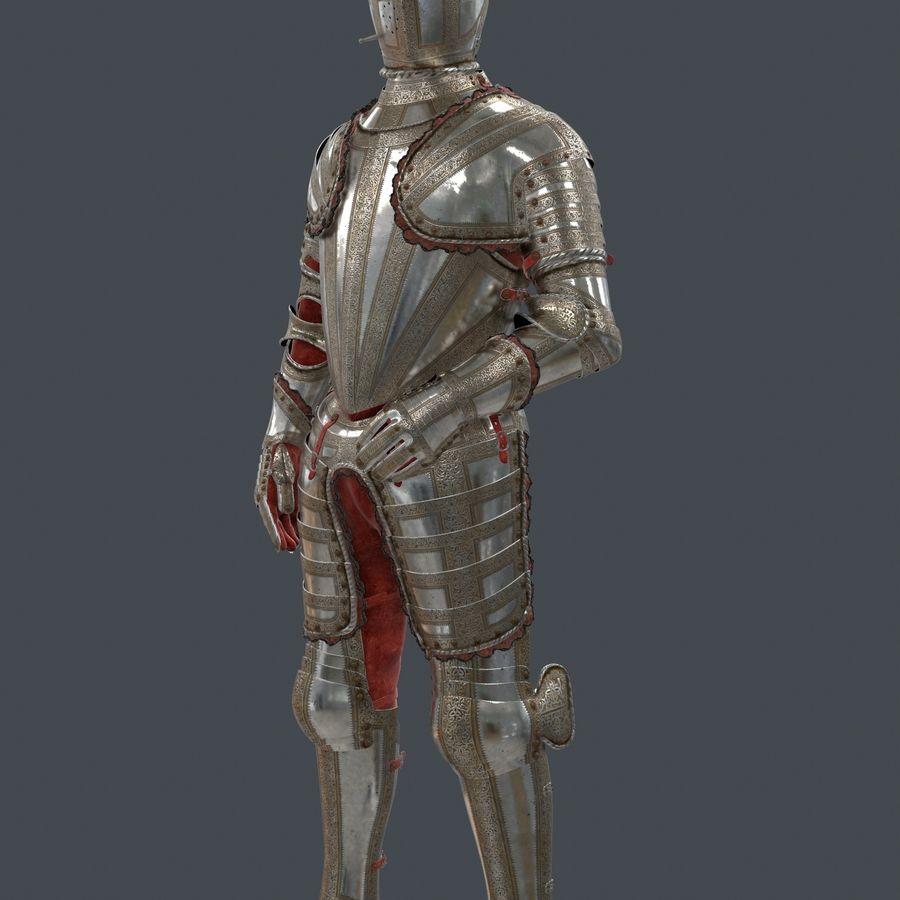 Ceremonial knight armor royalty-free 3d model - Preview no. 5