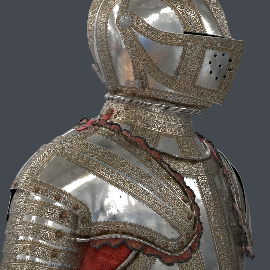 Ceremonial knight armor royalty-free 3d model - Preview no. 9