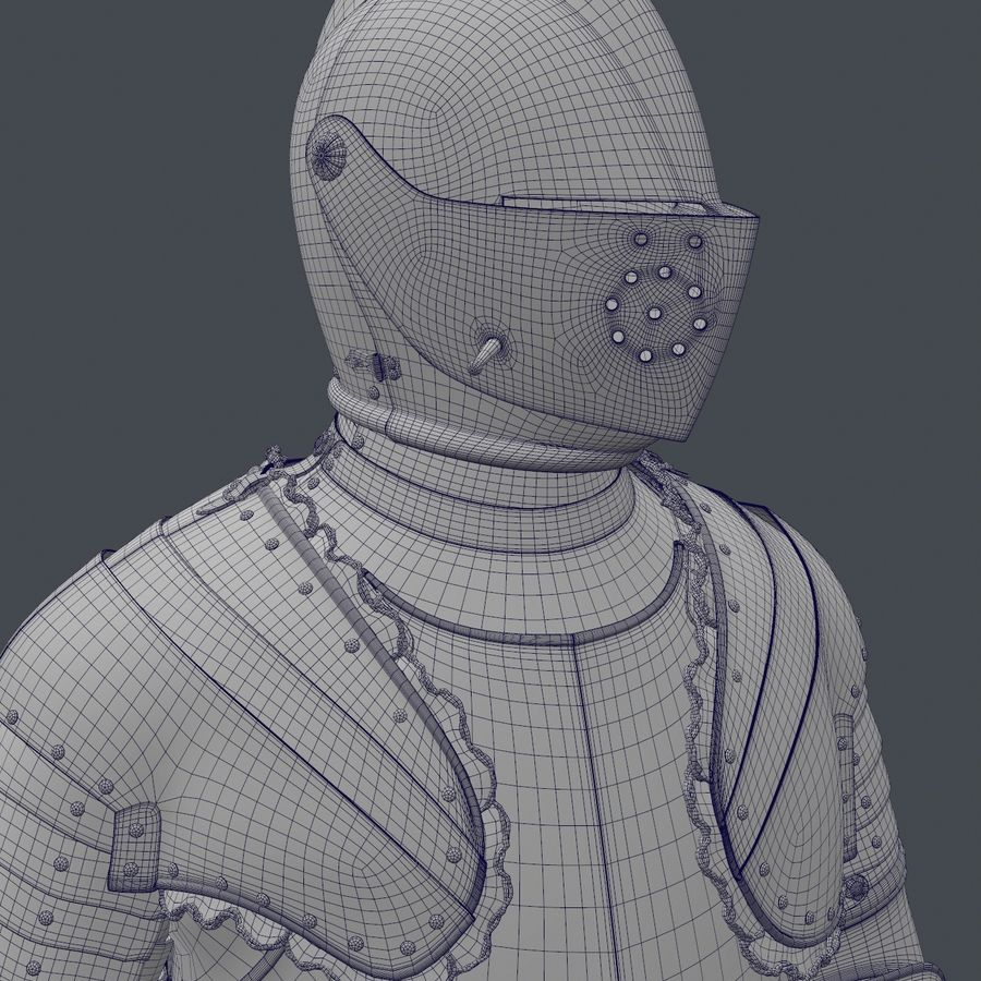 Ceremonial knight armor royalty-free 3d model - Preview no. 15