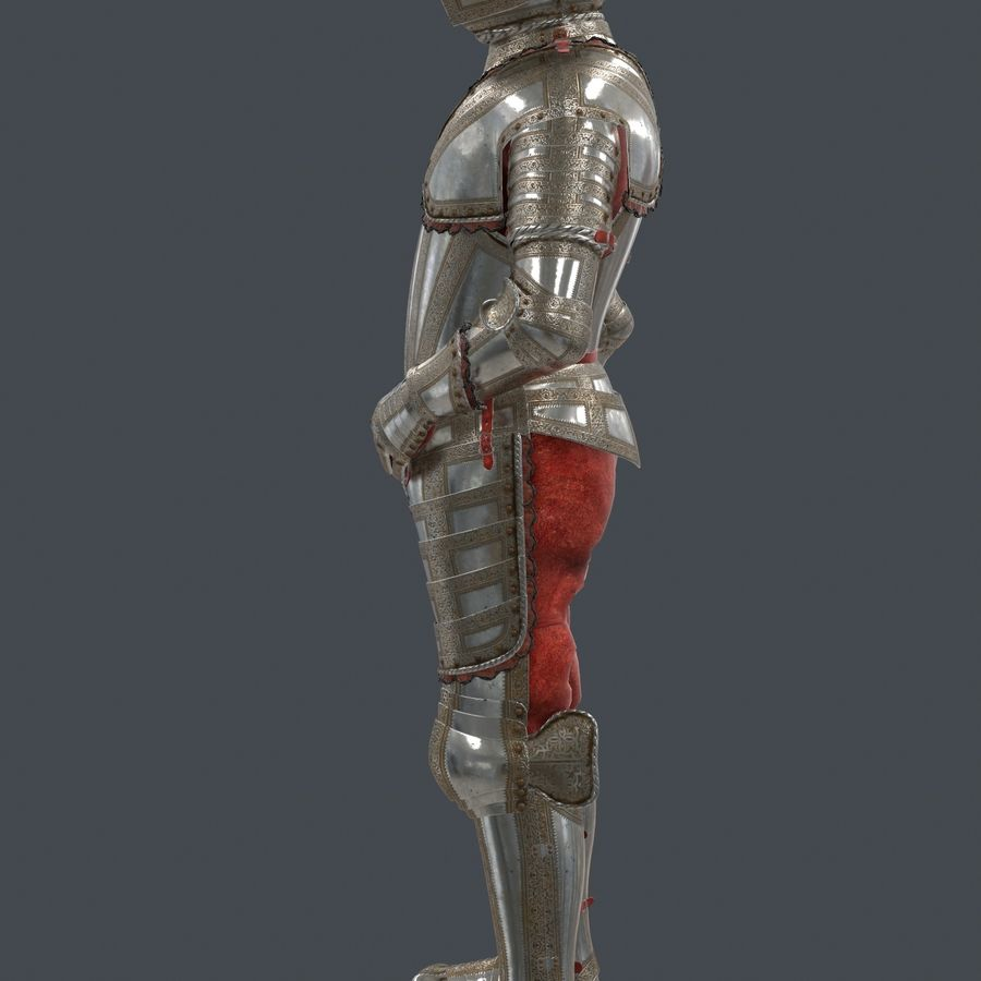 Ceremonial knight armor royalty-free 3d model - Preview no. 7