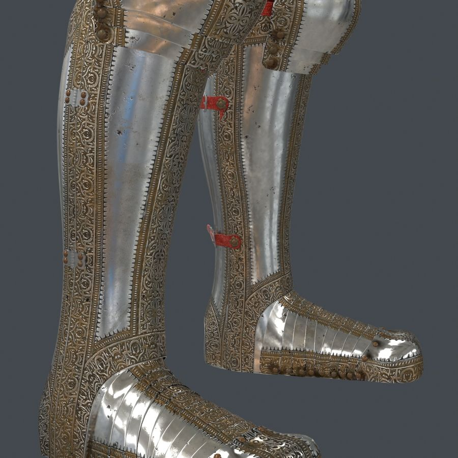 Ceremonial knight armor royalty-free 3d model - Preview no. 12