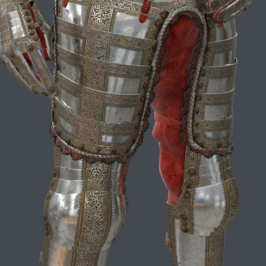 Ceremonial knight armor royalty-free 3d model - Preview no. 11