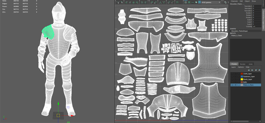 Ceremonial knight armor royalty-free 3d model - Preview no. 22