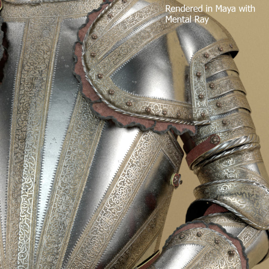 Ceremonial knight armor royalty-free 3d model - Preview no. 4