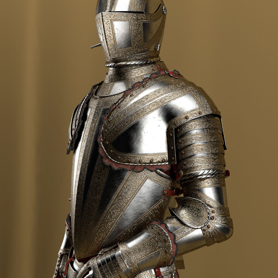Ceremonial knight armor royalty-free 3d model - Preview no. 1
