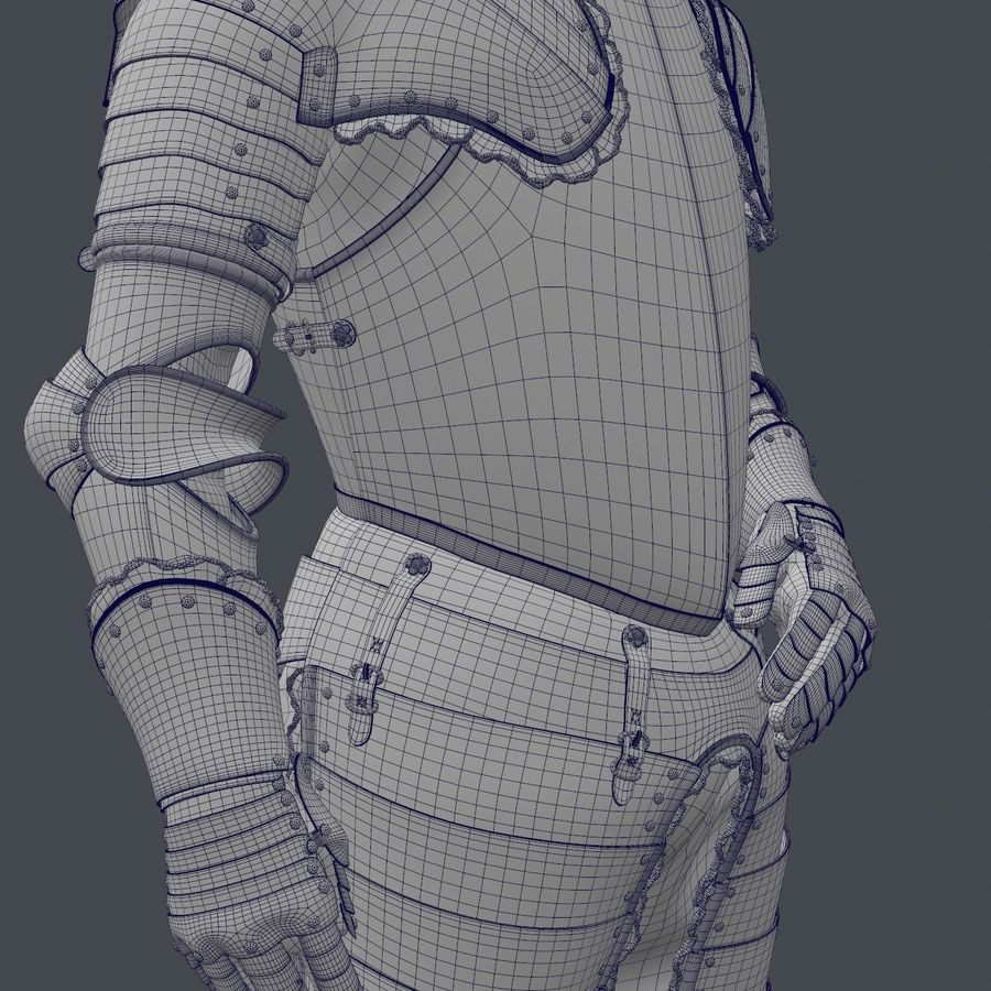 Ceremonial knight armor royalty-free 3d model - Preview no. 13