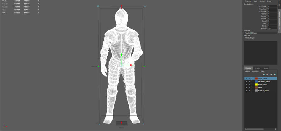 Ceremonial knight armor royalty-free 3d model - Preview no. 23