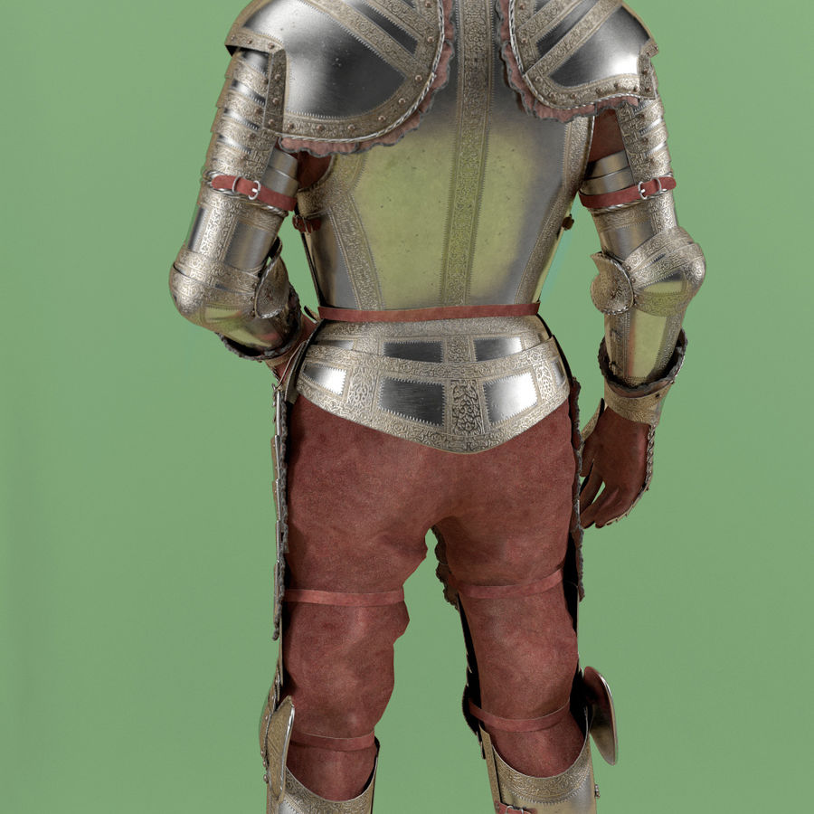 Ceremonial knight armor royalty-free 3d model - Preview no. 2