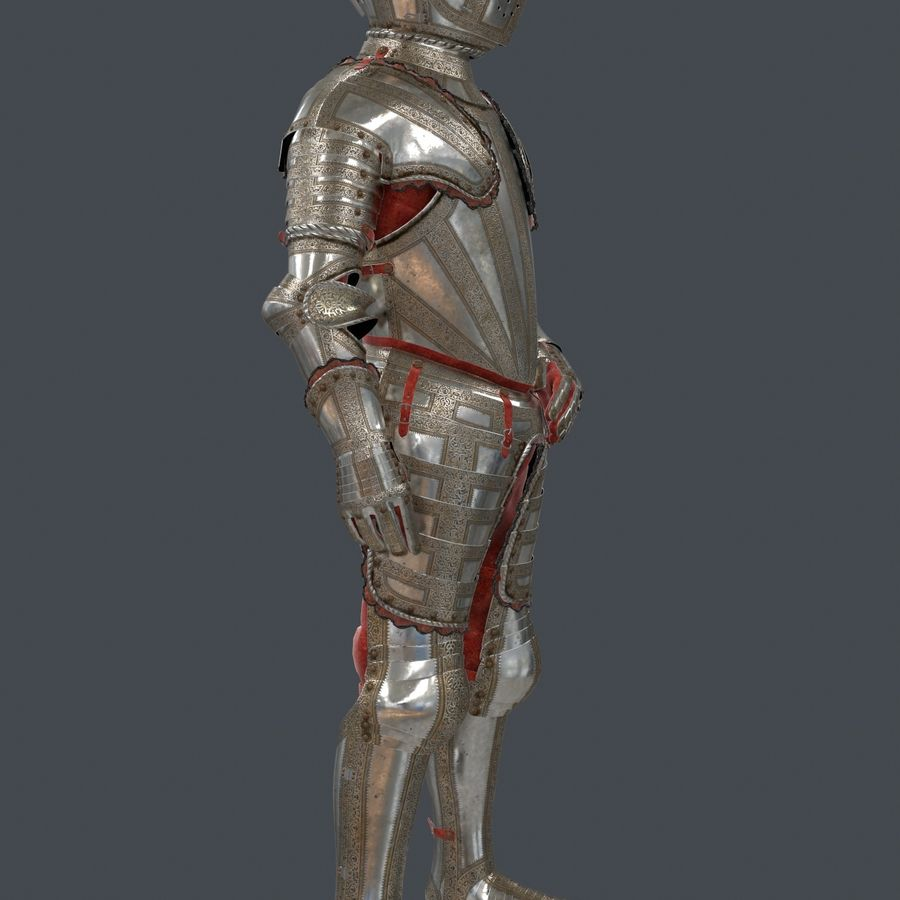 Ceremonial knight armor royalty-free 3d model - Preview no. 8