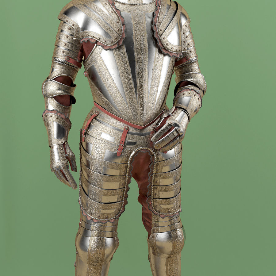 Ceremonial knight armor royalty-free 3d model - Preview no. 3