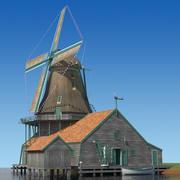 Голландская мельница 3d model