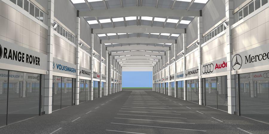 オートショールームセンター royalty-free 3d model - Preview no. 20