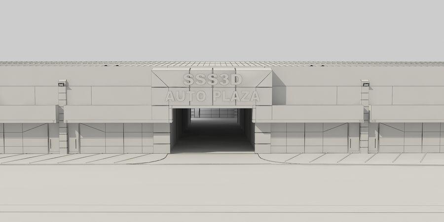 オートショールームセンター royalty-free 3d model - Preview no. 35
