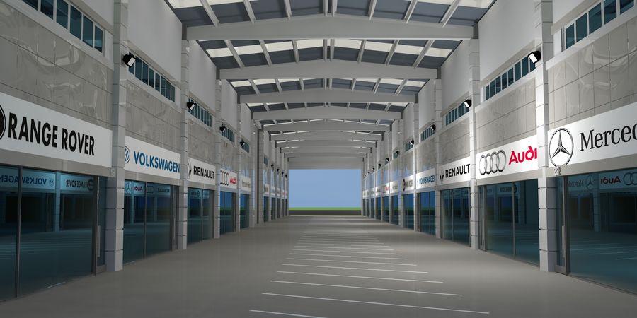 オートショールームセンター royalty-free 3d model - Preview no. 21
