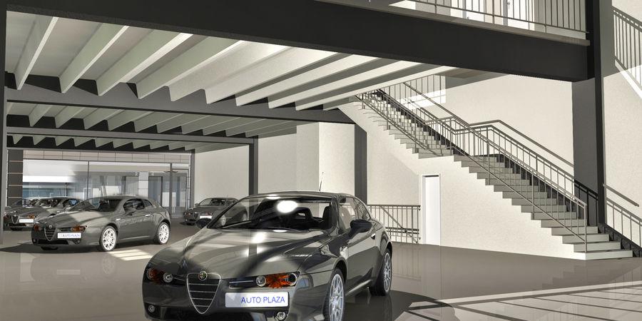 オートショールームセンター royalty-free 3d model - Preview no. 22