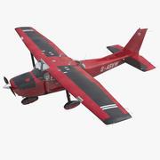 Cessna 172 Red Model 3D 3d model