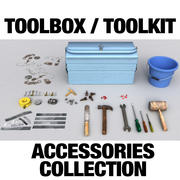 Coleção de acessórios Toolkit / Toolbox 3d model