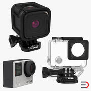 GoPro Collection 3d model