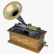Fonógrafo casero de Edison modelo 3d