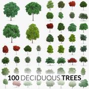 Kolekcja drzew liściastych - 100 drzew 3d model