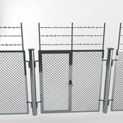 staket industriell 3d model