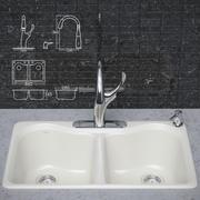 Rubinetto da cucina e lavello KOHLER 3d model