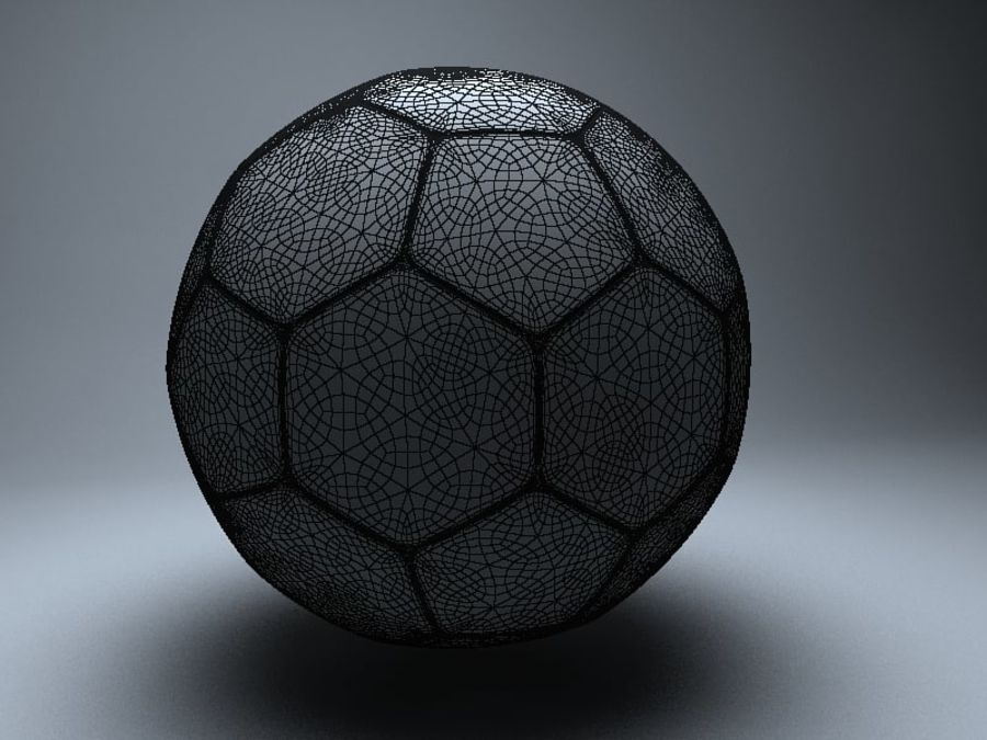 football royalty-free 3d model - Preview no. 4