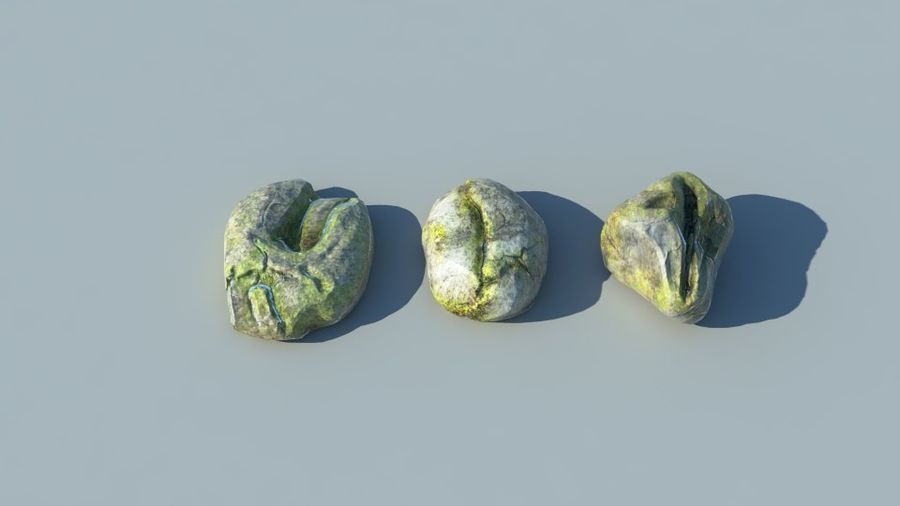 Mossy Rocks Pack royalty-free 3d model - Preview no. 1