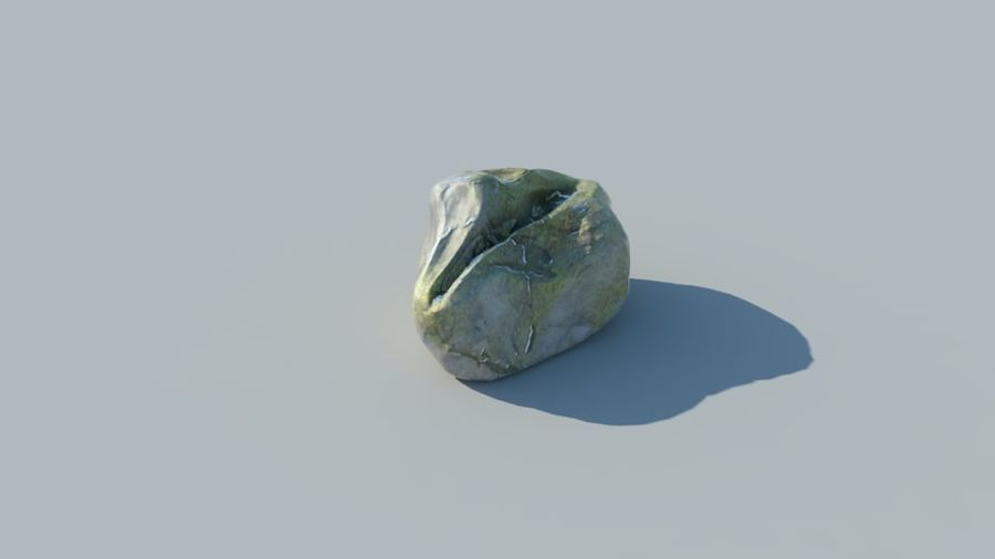 Mossy Rocks Pack royalty-free 3d model - Preview no. 3