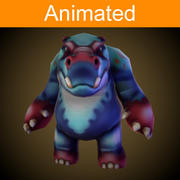 .Character Hippo 3d model