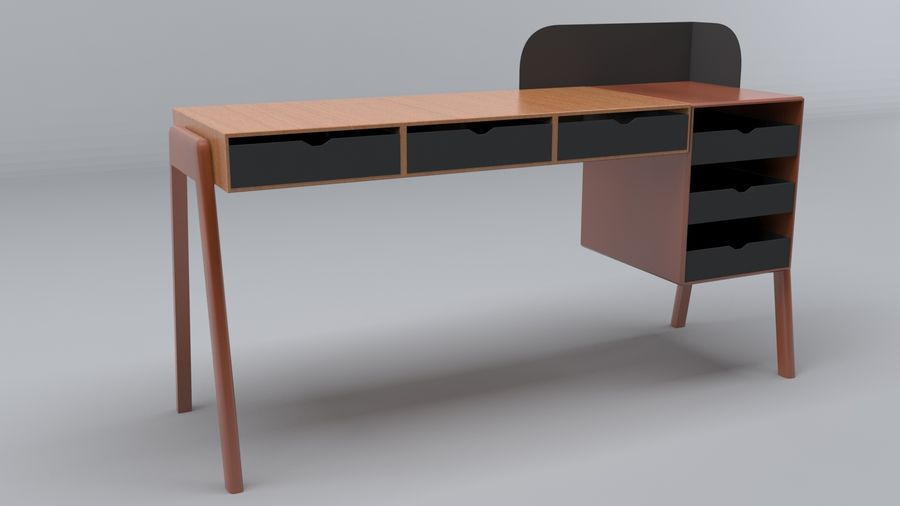 Desk Collection royalty-free 3d model - Preview no. 7