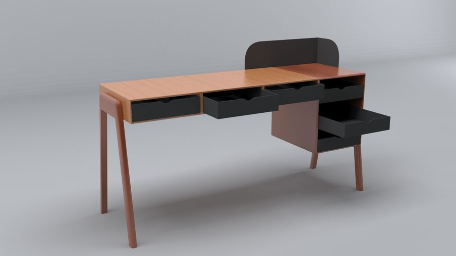 Desk Collection royalty-free 3d model - Preview no. 11