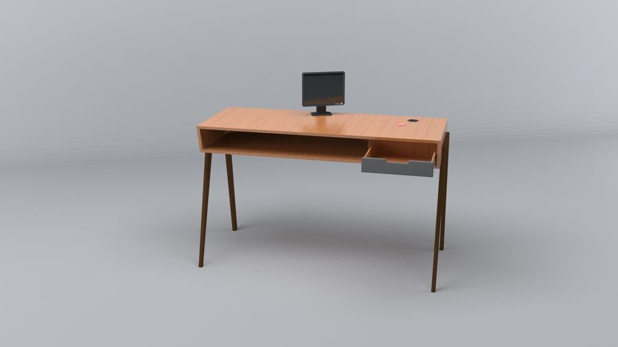 Desk Collection royalty-free 3d model - Preview no. 15