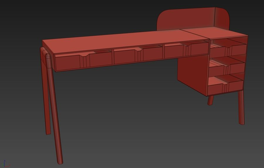 Desk Collection royalty-free 3d model - Preview no. 9