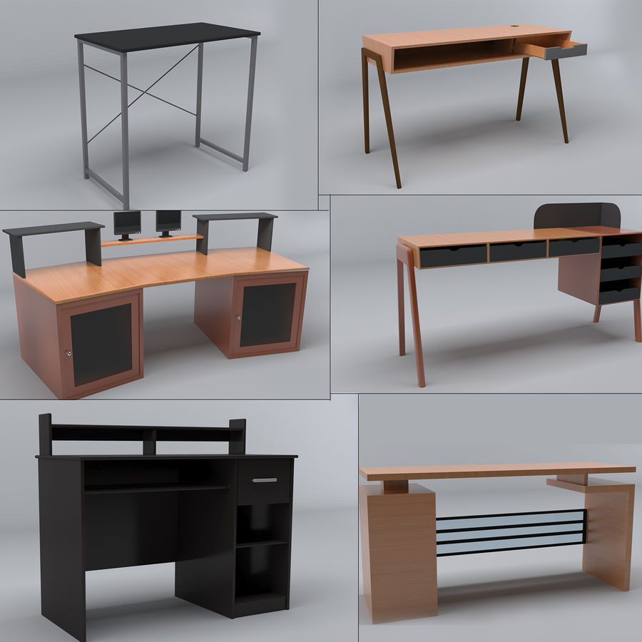 Desk Collection royalty-free 3d model - Preview no. 1