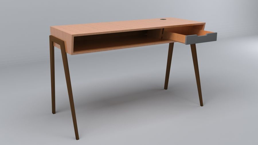 Desk Collection royalty-free 3d model - Preview no. 12