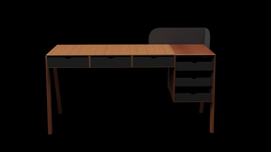 Desk Collection royalty-free 3d model - Preview no. 10
