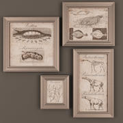 a set of paintings 3d model