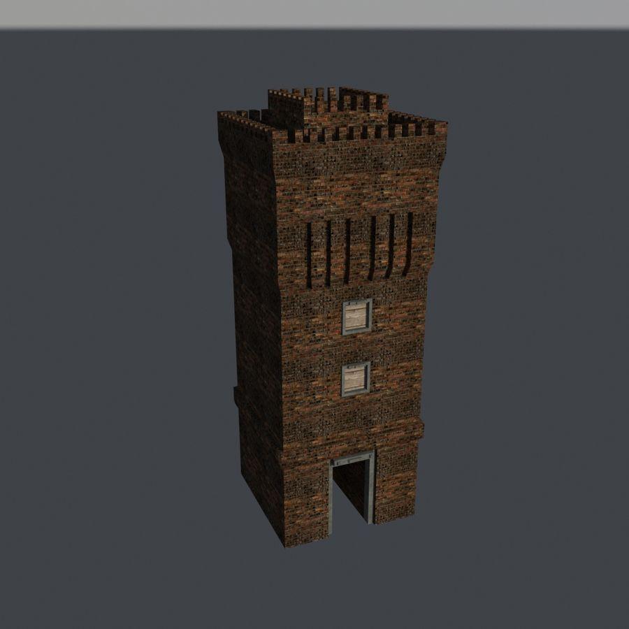 模块化城堡 royalty-free 3d model - Preview no. 2