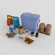 Kentsel Enkaz Çöp 3d model