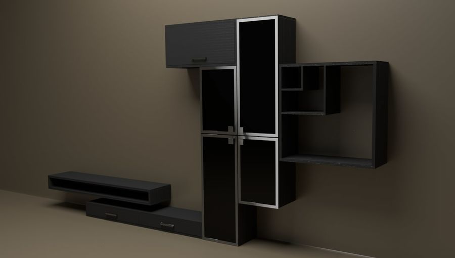 Living room furniture royalty-free 3d model - Preview no. 2