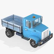 Camion de dessin animé Lowpoly 3d model