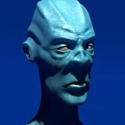 Alien Büste 3d model