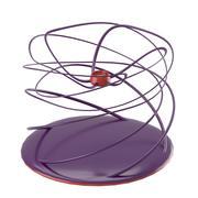 Twisting modern candleholder 3d model